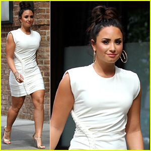 Demi Lovato Wears a Dress with a Braid Down the Side