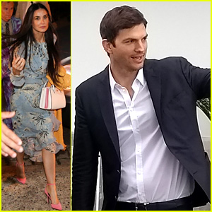 Exes Demi Moore & Ashton Kutcher Attend Friend's Wedding