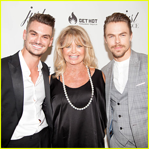 Derek Hough & Goldie Hawn Help Launch Just Dance Studio