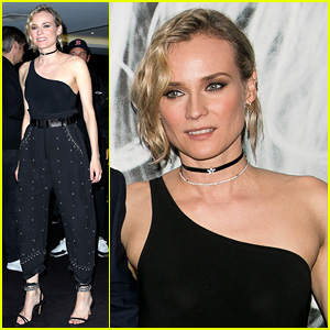 Diane Kruger Wears a Studded Outfit at Movie Premiere in Paris