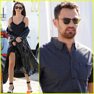 Emily Ratajkowski & Theo James Film 'Lying & Stealing' in LA