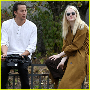Emma Stone Chats with Director Cary Fukunaga on 'Maniac' Set