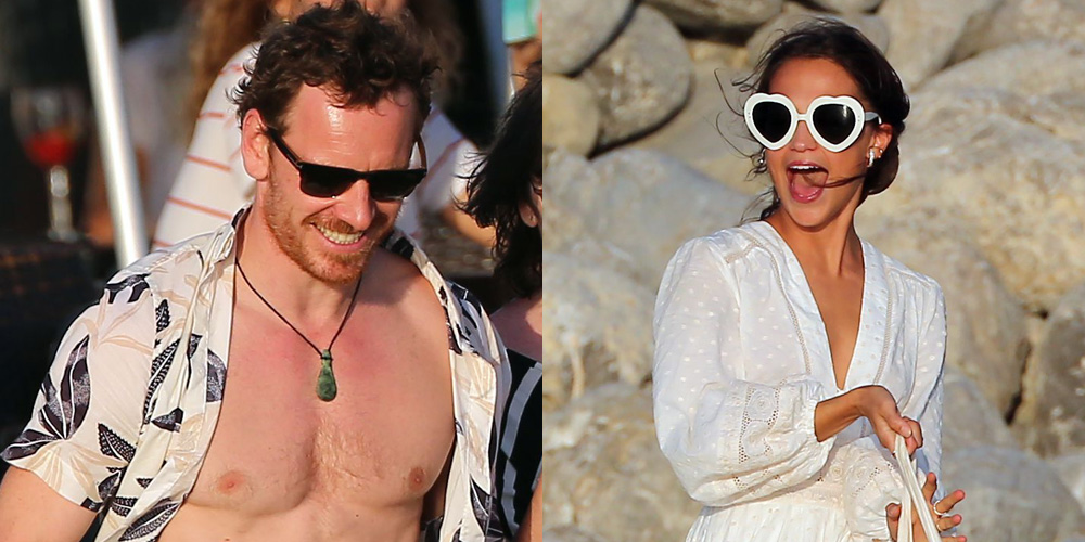 Michael Fassbender & Alicia Vikander Host Beach Party Ahead of Rumored Wedding Weekend! | Alicia Vikander, Jon Kortajarena, Michael Fassbender, Shirtless : Just Jared