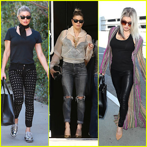 Fergie Looks Fierce While Heading to Church, the Studio & the Airport!