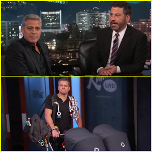 George Clooney Sneaks Matt Damon Onto 'Jimmy Kimmel Live' As His Twins' Manny - Watch Here!