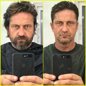 Gerard Butler Freaks Out While Shaving His Beard Off - Watch Now!