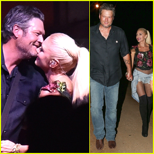 Gwen Stefani Joins Blake Shelton at Grand Opening of His New Restaurant!