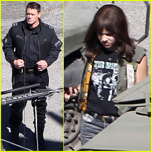 John Cena & Hailee Steinfeld Are Ready for Action on 'Bumblebee' Set