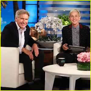 Harrison Ford Plays 'Heads Up!' with Ellen - Watch Here!