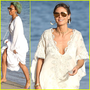 Heidi Klum & Mel B Are Ladies In White For Malibu Beach Day