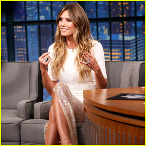 Heidi Klum Teases 2017 Halloween Costume on 'Late Night': 'A Lot Of Stuff Being Glued'