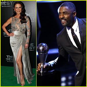 Idris Elba & Catherine Zeta-Jones Take the Stage at Best FIFA Football Awards