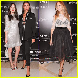 Irina Shayk, Dakota Johnson & Sarah Jessica Parker Buddy Up at Intimissimi Grand Opening!