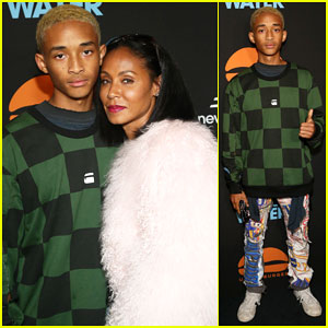 Jada Pinkett Smith Supports Son Jaden at Umami Burger Impossible Launch!