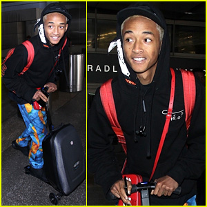 Jaden Smith Happily Scooters His Way Through LAX Airport