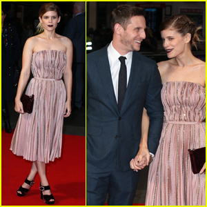 Kate Mara Supports Jamie Bell During 'Film Stars Don't Die in Liverpool' Press Tour!