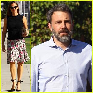 Jennifer Garner & Ben Affleck Reunite at Church