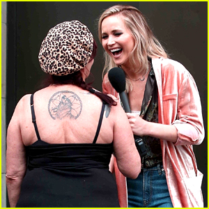 Jennifer Lawrence Hits the Streets for 'Jimmy Kimmel Live!' Segment