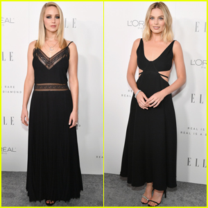 Jennifer Lawrence & Margot Robbie Stun at Elle's Women in Hollywood Celebration