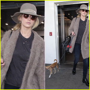 Jennifer Lawrence Returns From Short Paris Fashion Week Trip