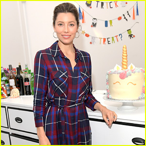 Jessica Biel is Pretty in Plaid While Launching New Event Space