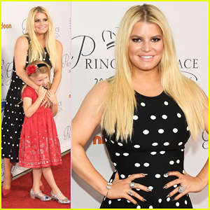 Jessica Simpson Brings Daughter Maxwell To Princess Grace Awards L.A. Kick Off!