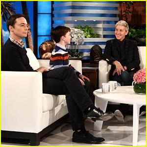 Jim Parsons & Iain Armitage Talk Playing Sheldon on 'Ellen' - Watch!