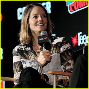 Jodie Foster Makes Surprise Appearance at New York City Comic Con for 'Black Mirror' Panel!