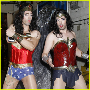 Jonathan & Drew Scott Dress as Wonder Woman for Halloween!