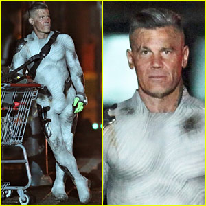 Josh Brolin Films 'Deadpool 2' in His Skin Tight Cable Costume!