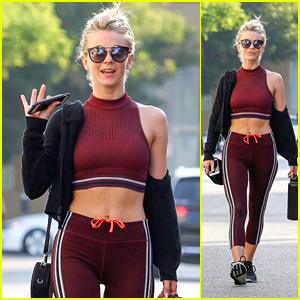 Julianne Hough Shows Off Her Toned Tummy While Heading to the Gym!