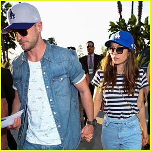 Justin Timberlake & Jessica Biel Couple Up for Astros vs. Dodgers World Series Game