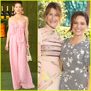 Kate Hudson Joins Laura Dern & Sophia Bush at Veuve Clicquot Polo Classic