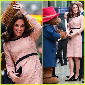 Kate Middleton Displays Tiny Baby Bump Dancing with Paddington Bear!