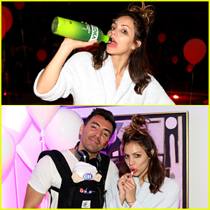 Katharine McPhee Dubs Herself a 'Hot Mess' at Just Jared Halloween Party, Dances Night Away to DJ Reprise's Music