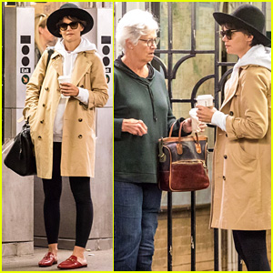 Katie Holmes Covers Up Pixie 'Do on the Subway With Her Mom