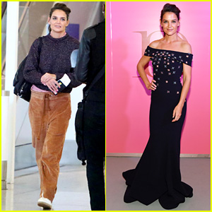 Katie Holmes Shows Off Her Casual Style Before Slipping Into Elegant Evening Gown