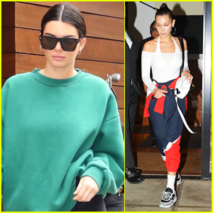 Kendall Jenner & Bella Hadid Rock Sporty Outfits in NYC