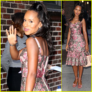 Kerry Washington Dazzles in Metallic Dress for 'Late Show' Appearance!