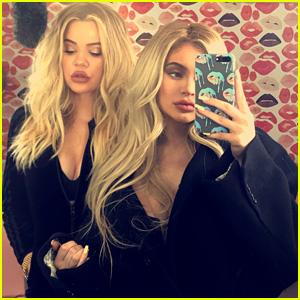 Pregnant Sisters Khloe Kardashian & Kylie Jenner Snap New Selfies Together!