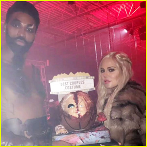 Khloe Kardashian Seemingly Confirms Pregnancy with Halloween Pic!