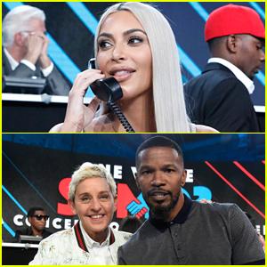 Kim Kardashian Joins Ellen DeGeneres & Jamie Foxx at 'Somos: Una Voz' Benefit for Puerto Rico
