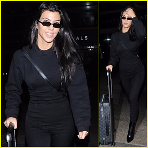 Kourtney Kardashian Keeps it Chic in All Black After Returning From Paris Fashion Week!