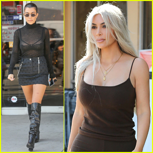 Kourtney Kardashian Goes Sexy in Sheer While Shopping with Kim