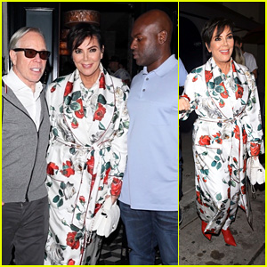 Kris Jenner Dines With Boyfriend Corey Gamble & Tommy Hilfiger in West Hollywood