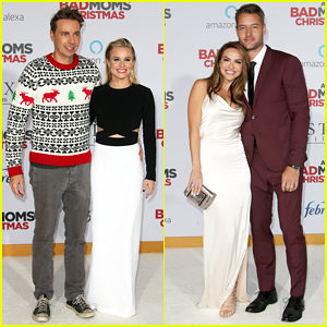 Kristen Bell & Justin Hartley Bring Spouses to 'A Bad Moms Christmas' Premiere!