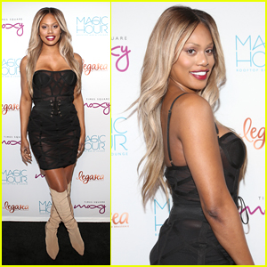 Laverne Cox Attends the Grand Opening of Magic Hour Rooftop Lounge in NYC