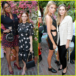 Laverne Cox, Elizabeth Olsen, & More Go Glam for CFDA Tea Party in LA