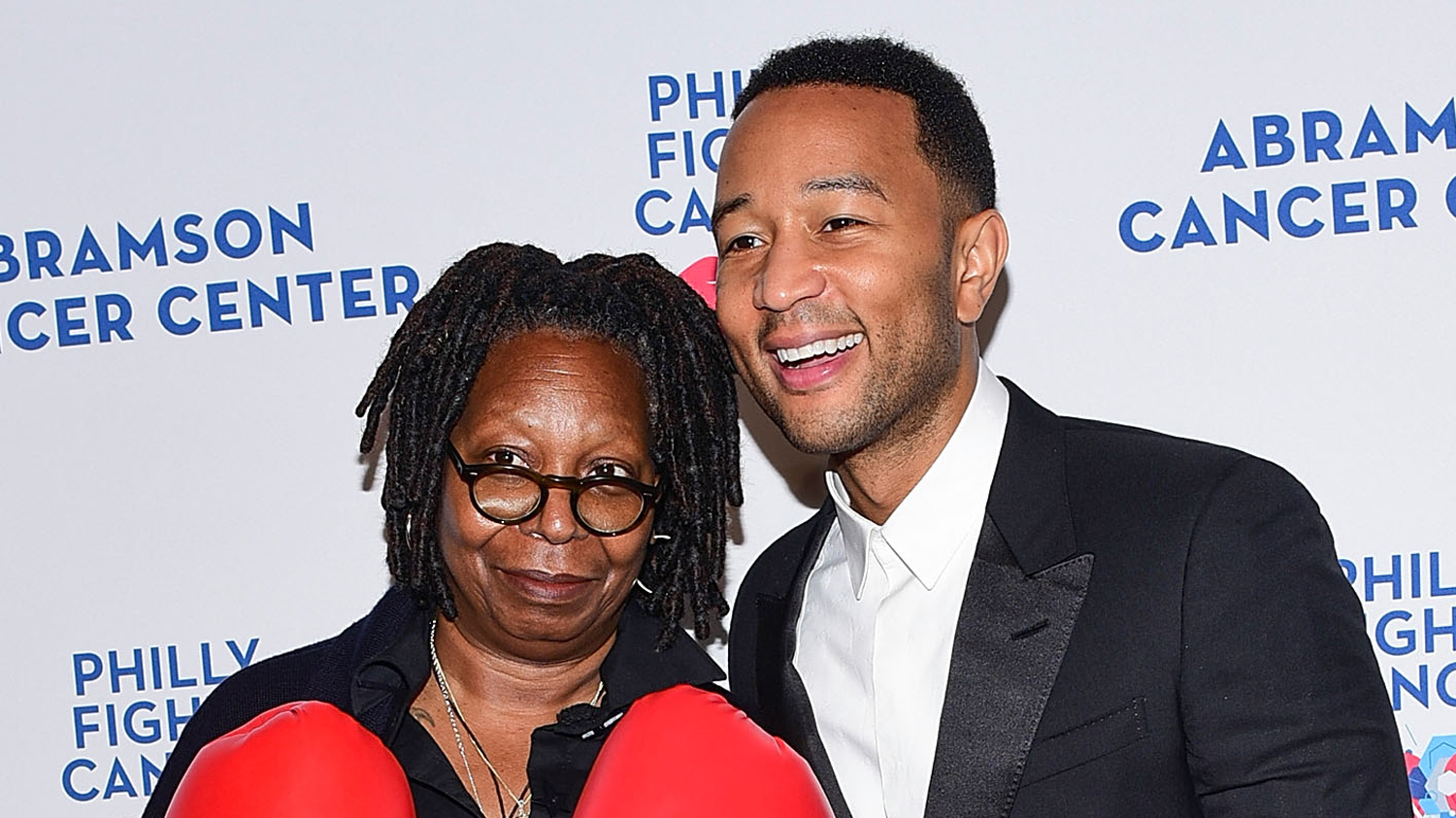 John Legend Joins Whoopi Goldberg At Philly Fights Cancer