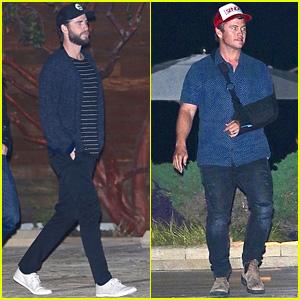 Liam Hemsworth & Injured Brother Luke Grab Dinner at Nobu